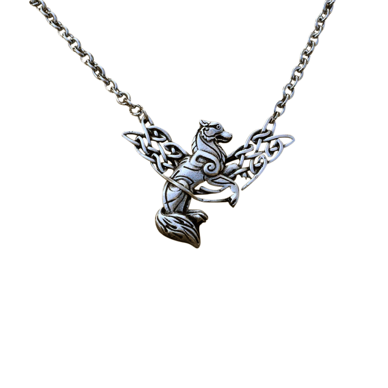 Collier Pendentif Loup