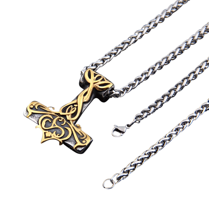 collier viking argent