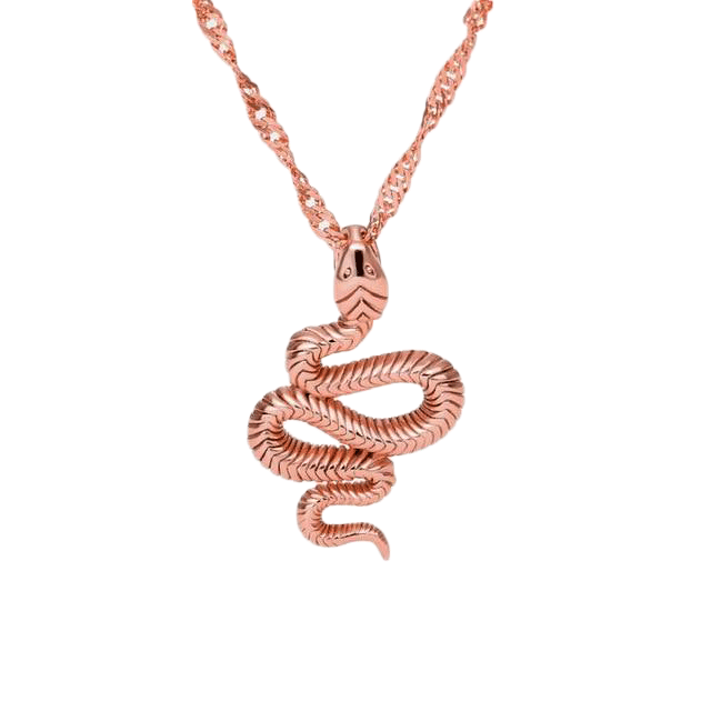 Collier Maille Serpent Plaqué Or Rose