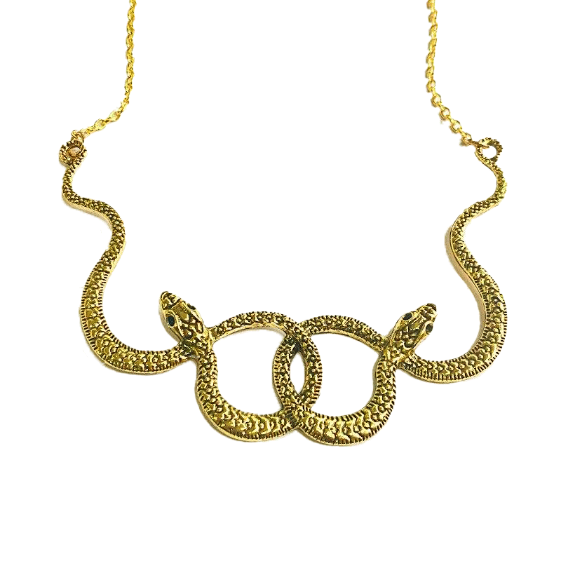 Collier Serpent Couleur Or