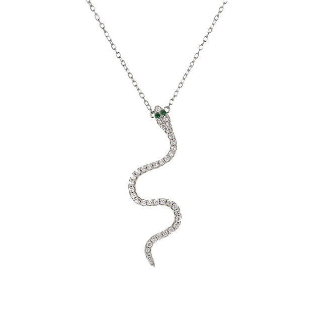 Collier Serpent Avec Pierres