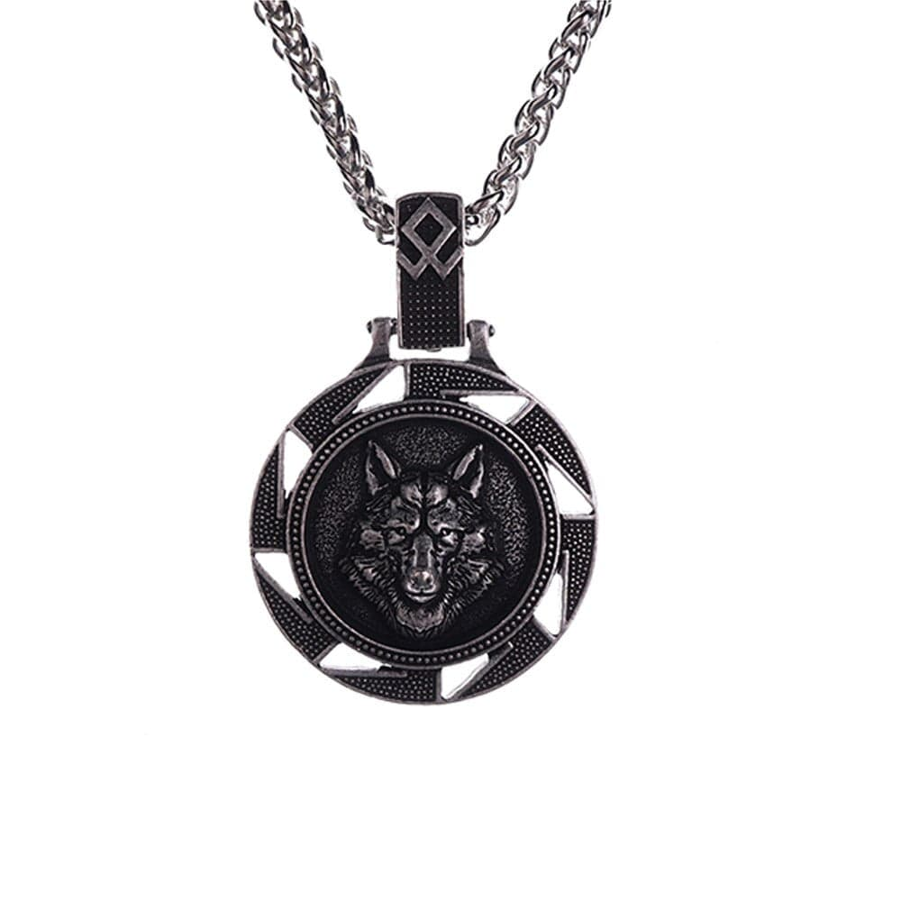 Collier Viking<br>Loup Fenrir</br>