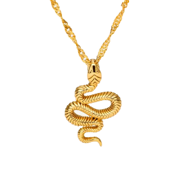 serpent collier jaune