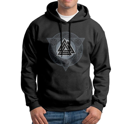 Sweat-shirt à capuche Valknut