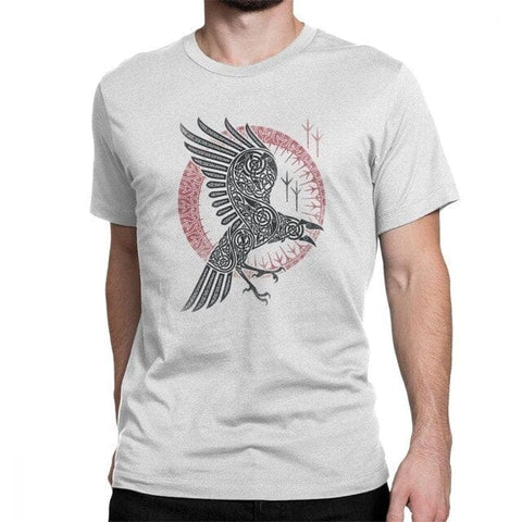 T-shirt viking <br>corbeau</br>