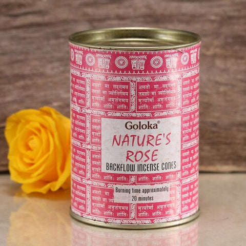 Goloka Nature's Rose Backflow Incense Cones