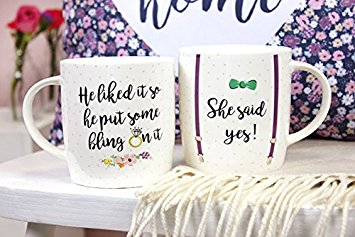 """She Said Yes"" Mugs - Cassolli"