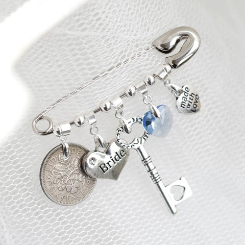 Personalised Wedding Bridal Pin