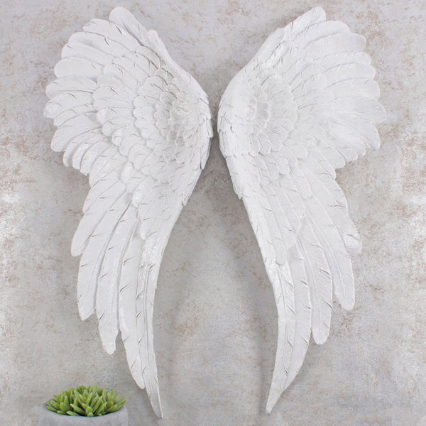 Large Glitter Angel Wings