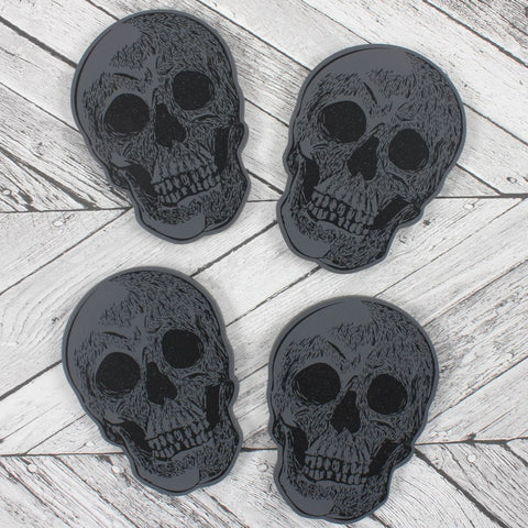 Set of 4 Skull Coasters