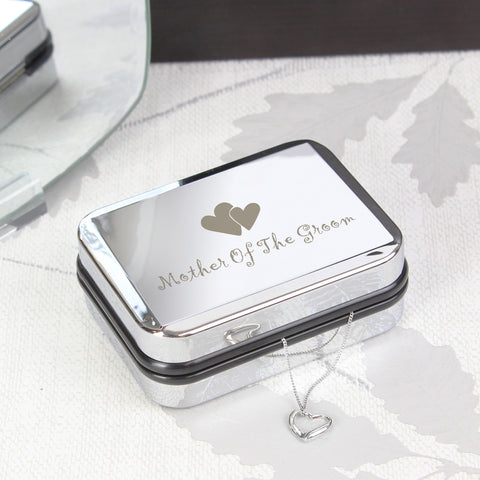 Personalised Mother Of Groom Heart Necklace Box