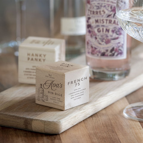 Personalised Gin Recipe Dice