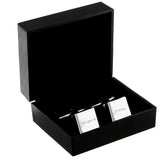 Personalised Any Message Square Cufflinks - 1 line