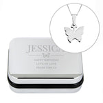 Personalised Box and Butterfly Necklace