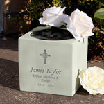 Personalised Cross Memorial Vase