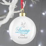 Personalised In Loving Memory Blue Bauble