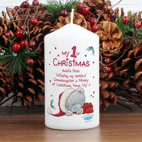 Personalised Me To You My 1st Christmas Candle
