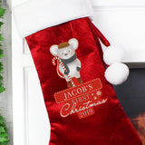 Personalised '1st Christmas' Mouse Stocking