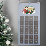 Personalised Elf Advent Calendar In Silver Grey
