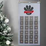 Personalised Pet Advent Calendar In Silver Grey