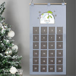 Personalised The Snowman Advent Calendar In Silver Grey