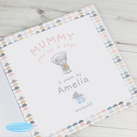 Personalised Tiny Tatty Teddy Mummy You're A Star, Poem Book