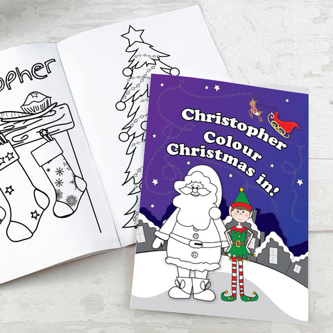 Personalised Its Christmas Elf Colouring Book