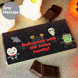 Personalised Halloween Milk Chocolate Bar