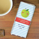 Personalised Apple for the Teacher Milk Chocolate Bar