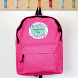 Personalised Butterfly Pink Backpack