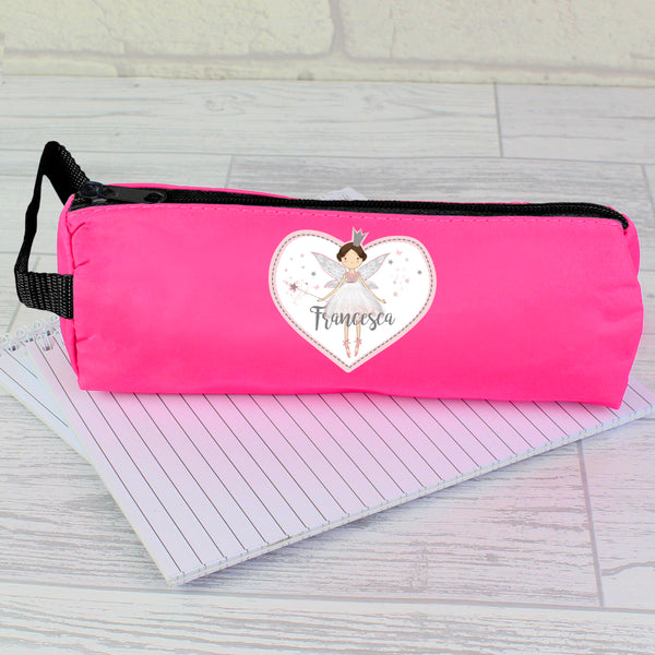 Personalised Fairy Princess Pink Pencil Case
