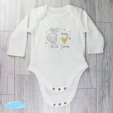 Personalised Tiny Tatty Teddy I Heart Long Sleeved Baby Vest