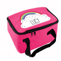 Personalised Rainbow Pink Lunch Bag