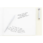 Personalised In Loving Memory Hardback Guest Book & Pen