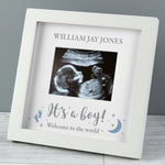 Personalised 'It's A Boy' Baby Scan Frame