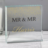 Personalised Gold Confetti Large Crystal Token