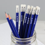 Personalised Name Only Blue Pencils