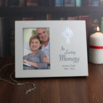 Personalised Cross Loving Memory 6x4 Light Up Frame