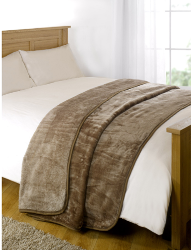 Faux Fur Mink Throw - Mink