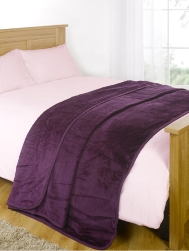 Faux Fur Mink Throw - Purple