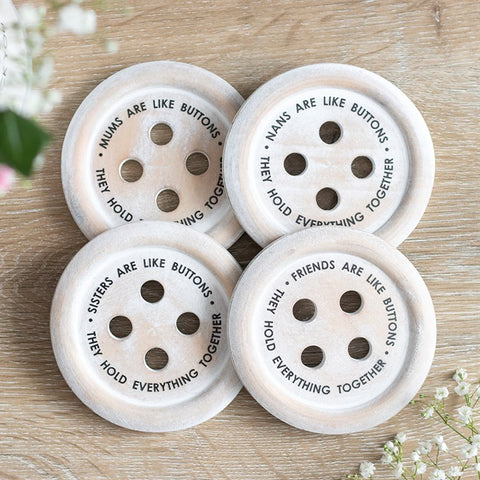 Lovely Button Coasters