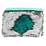 Green and Silver reversible Sequin Purse - Cassolli