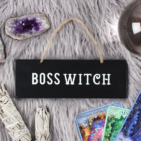 'Boss Witch' Wall Sign - Cassolli