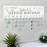Personalised Classroom Office Birthday Planner Plaque with Customisable Discs