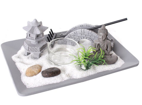 Zen Garden Candle Holder