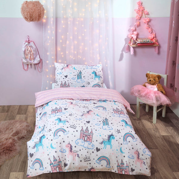 Unicorn Kingdom Cot/Junior Duvet Set
