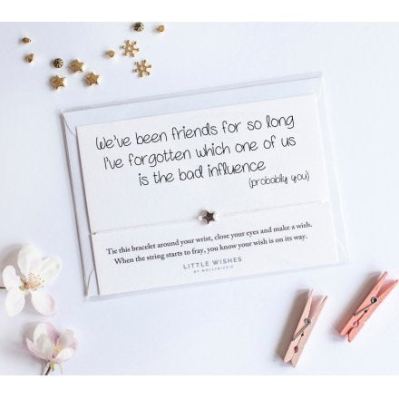 We've Been Friends For So Long Wish Bracelet