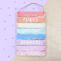 Dance With Fairies Wall Sign - Cassolli