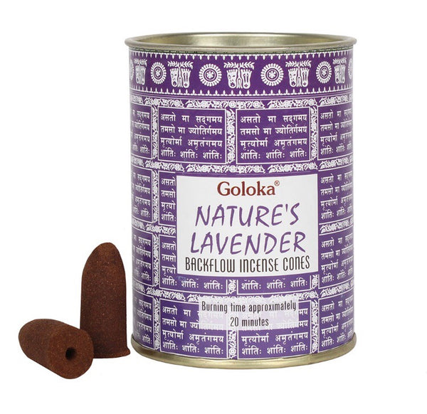 Goloka Lavender Backflow Incense Cones