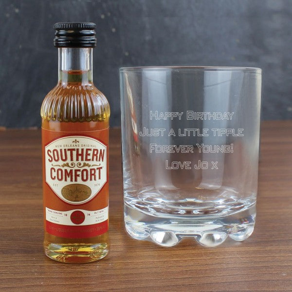 Personalised Tumbler & Southern Comfort Miniature Set